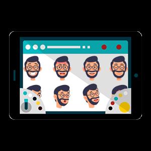 Animated film companies_character development icon
