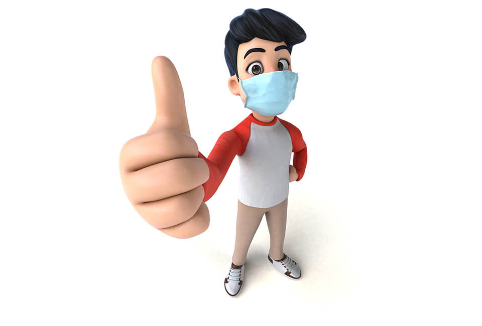 3D Character Animation Services 3D image of a man thumbs up